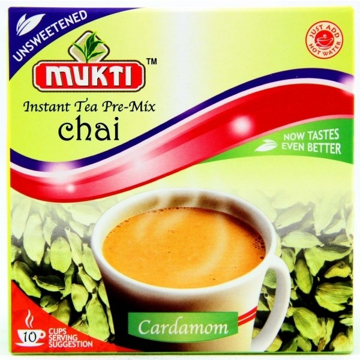 Picture of Mukti Instant Tea Pre-Mix Chai Cardamom (Unsweetened) 140g