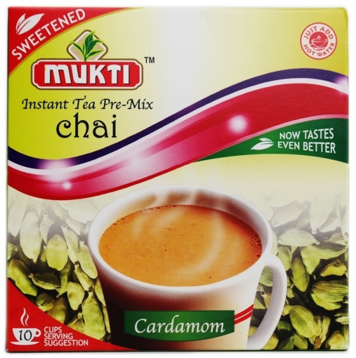 Picture of Mukti Instant Tea Pre-Mix Chai Cardamom (Sweetened) 220g