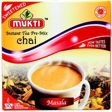 Picture of Mukti Instant Tea Pre-Mix Chai Masala (Sweetened) 140g