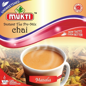 Picture of Mukti Instant Tea Pre-Mix Chai Masala (Unsweetened) 140g