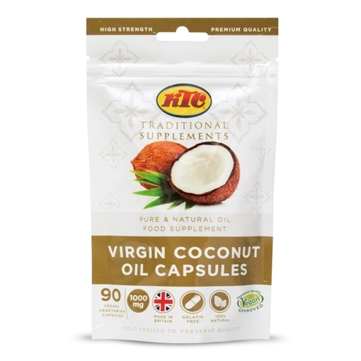 Picture of KTC Traditional Supplements Virgin Coconut Oil Capsules 90 pack