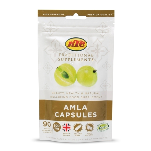 Picture of KTC Traditional Suppliments Amla Capsules 90 Capsules (100% Vegan, Halal)