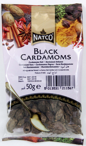 Picture of Natco Cardamoms Black 50g