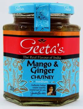 Geeta's Mango & Ginger Chutney Medium 320g