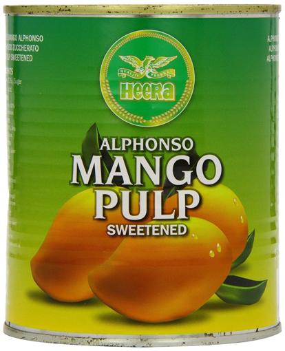 Heera Alphonso Mango Pulp Sweetened 850g