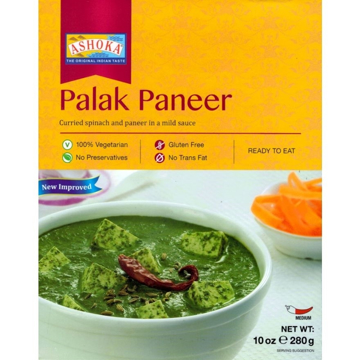 Ashoka Ready to Eat Palak Paneer 280g