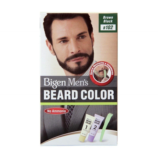 Bigen Men's Beard Colour No.B102 Brown Black