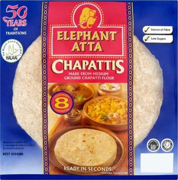 Elephant Atta Chapattis (8 pices) 360g