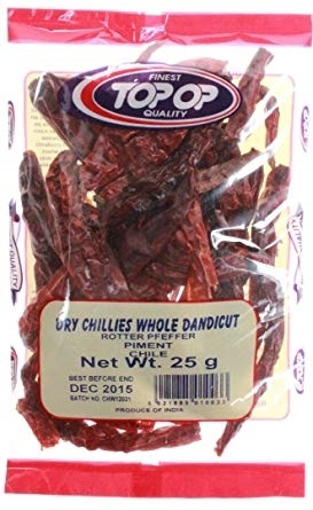 Picture of Top-Op Dry Chillies Whole Dandicut 25g