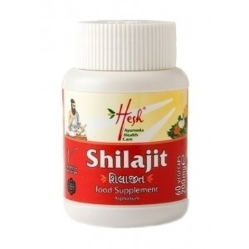 Picture of Hesh Organic Shilajit (Asphaltum)Tablets 250mg (60 Tablets)