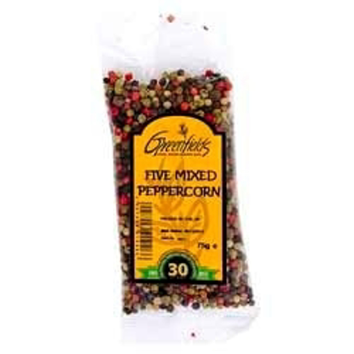 Picture of Greenfields Five Mixed Peppercorns 75g