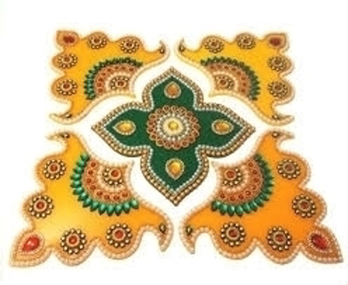 Picture of Best Rangoli Colour With Stencil (6Colours)