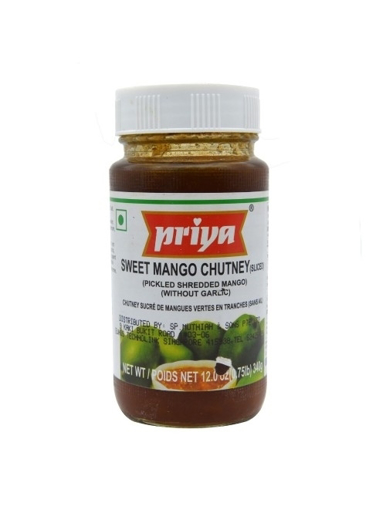 Priya Sweet Mango Chutney ( No Garlic) 340g