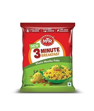 Picture of MTR 3 Minute Breakfast Khatta Meetha Poha 80g