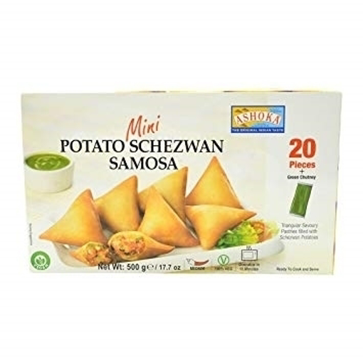 Ashoka Mini potato Schezwan Samosa 20 Pic (Frozen)