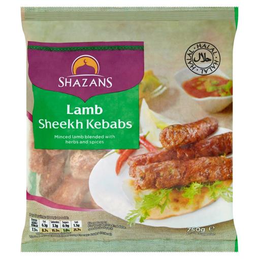 Shazans Lamb Sheekh Kebabs 750g