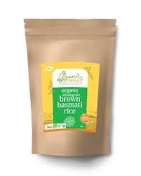 Organic Swaad  Wholegrain Brown Basmati Rice 1Kg