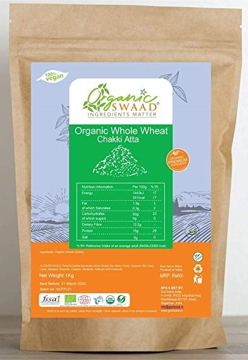 Organic Swaad Whole Grain (Wholemeal) Wheat Chakki Atta 1Kg