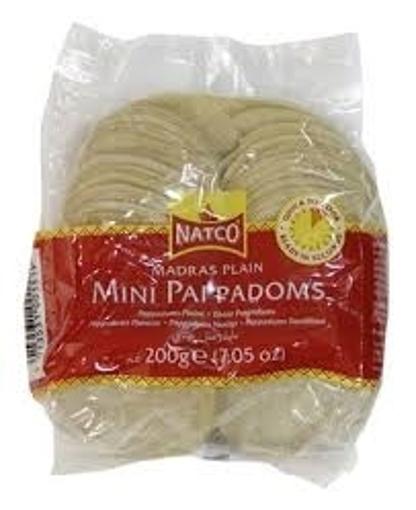 Natco Madras Plain Mini Pappadoms 200g