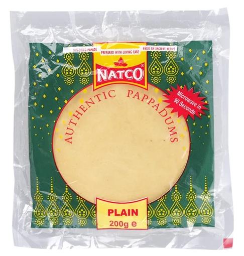 Natco Plain Pappadums 200g